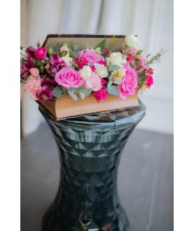 """Цветы в книге  """"Волшебное послание"""""""