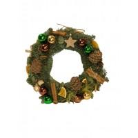 Рождественский венок ручной работы из натуральной датской ели 35 см