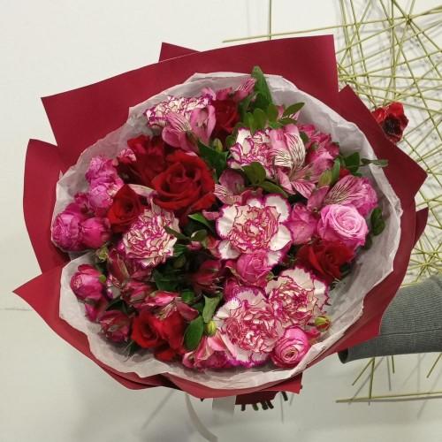 """Букет цветов """"Винный поцелуй"""""""