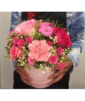 "Цветы в коробке ""Розовое чудо"""