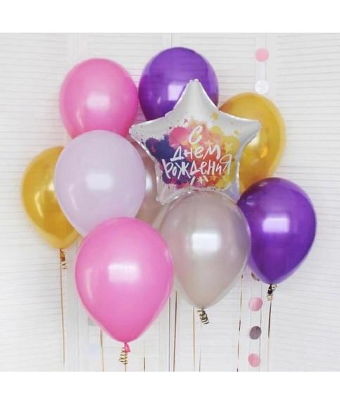 Набор гелиевых шаров С Днем Рождения!