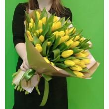Букет 51 Желтый тюльпан