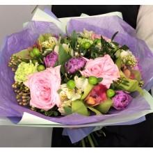 """Букет из роз и тюльпанов """"Заветная мечта"""""""