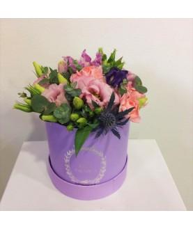 """Цветы в коробке""""Маршмеллоу"""""""