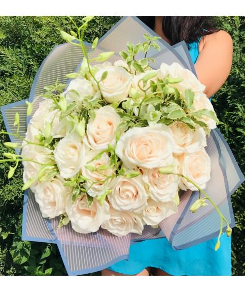 """Букет из белых роз """"Чистые мысли"""""""