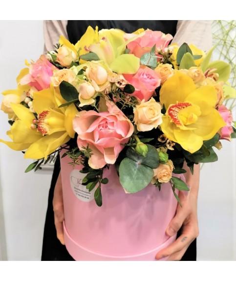 """Цветы в коробке """"Сказка"""""""