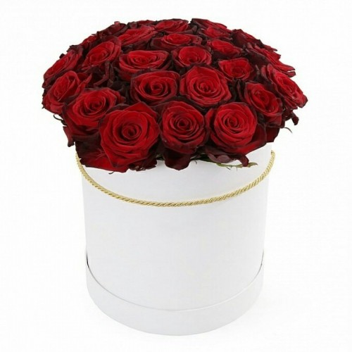 """Цветы в коробке """"Горячее сердце"""""""