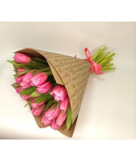 Букет Розовый тюльпан