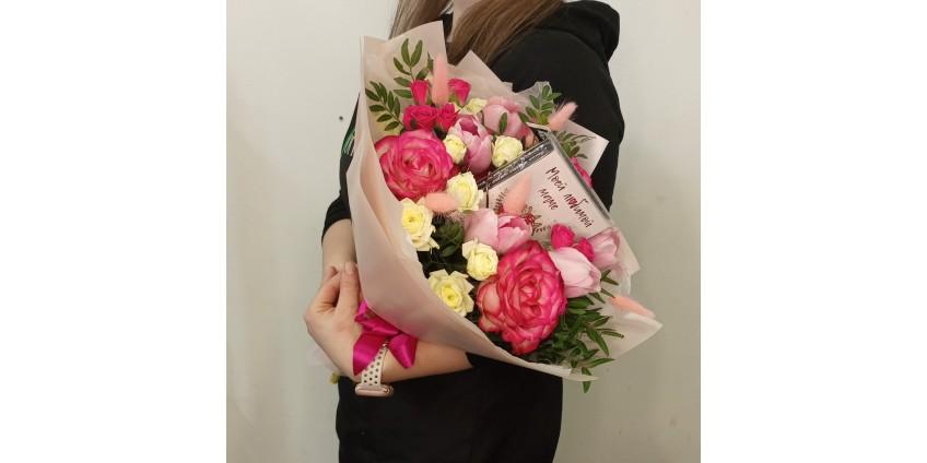 Романтический сюрприз с цветами