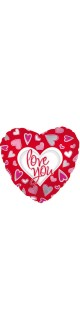 Воздушный шар (18''/46 см) Сердце, Люблю тебя