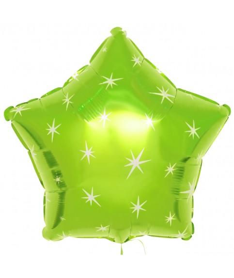 Шар (21''/53 см) Звезда, зеленая