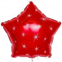 Шар (21''/53 см) Звезда, красная