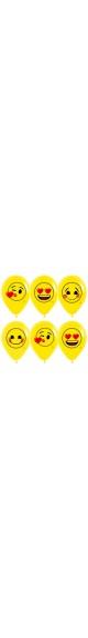Воздушный шар (12''/30 см) Смайлы, Emoji (Любовь), Желтый (020), пастель