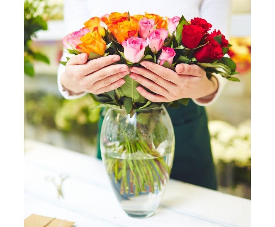 Как определить свежесть роз?