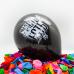 Воздушный шар (12''/30 см) Быть добру!, Черный, пастель