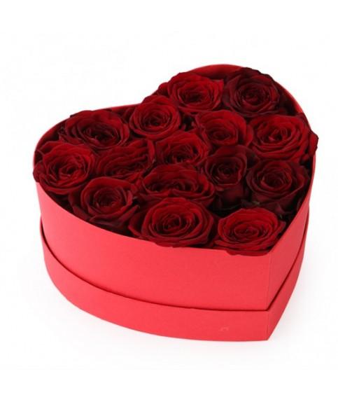 """Цветы в коробке сердце """"Магия любви"""""""